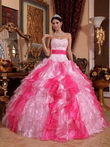 Beaded Ruffled Dress for Quinceanera Strapless for Belo Horizonte