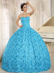 Brasilia New Blue Ball Gown Quinceanera Gowns Sweetheart Appliques