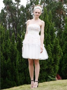Attractive Sleeveless Zipper Knee Length Lace Homecoming Dress