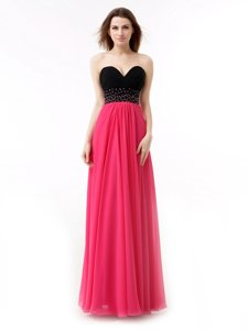 Hot Selling Sleeveless Beading and Ruffles Lace Up Prom Party Dress