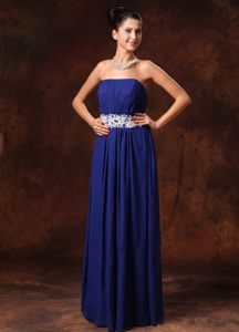 Empire Prom Evening Dress Appliques Chiffon for Governador Valadares