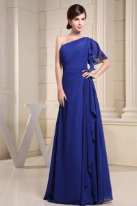 the Brand New Style Floor-length Chiffon Prom Evening Dress One Shoulder