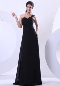 Boa Vista Black Dresses for Prom Sweetheart One Shoulder Floor-length