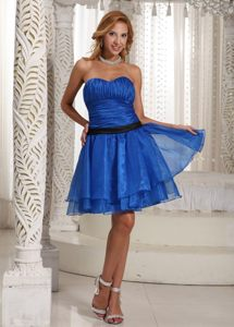 Multi-layered Organza Prom Cocktail Dresses Ruched Bodice Mini-length