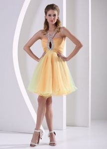New V-neck Beaded Straps Prom Party Dress Organza with Lace up Back