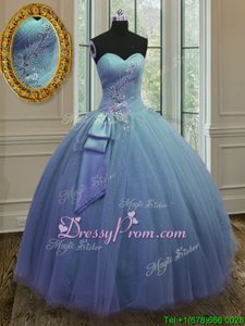 Cute Tulle and Sequined Sweetheart Sleeveless Lace Up Beading and Ruching 15 Quinceanera Dress inPurple