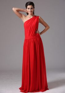 Fashionable Empire Sweet Sixteen Dresses One Shoulder Floor-length