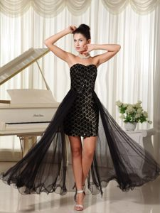 Unique High-low Rhinestones Black Prom Dress in Isle Of Wight