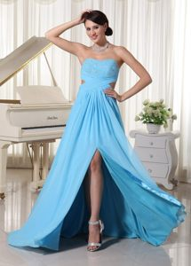 Wholesale Slitted Sweetheart Beaded Prom Graduation Dresses