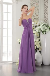 Orange CA Purple Chiffon Sweetheart Beaded Prom Evening Dress