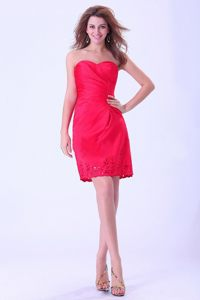 Sweetheart for Coral Red Mini-length Prom / Cocktail Dress