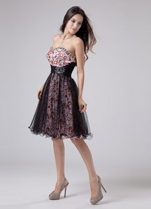 Fabulous Beaded Tulle Prom Dress Knee-length Sweetheart Print