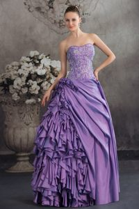 Embroidery Accent Sweetheart Quinceanera Gown with Ruffles 2014