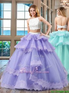 New Arrival White And Purple Quinceanera Dresses Military Ball and Sweet 16 and Quinceanera and For withBeading Straps Sleeveless Backless