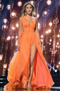 Custom Made Orange Chiffon Zipper Prom Party Dress Sleeveless Sweep Train Sashes|ribbons