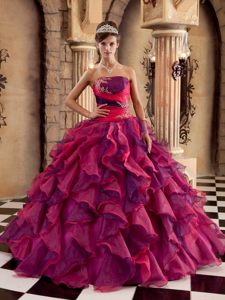 Appliques and Ruffles Accent Colorful Quinceanera Dresses 2014