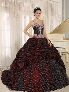 Beading Pick ups Dresses for Quinceanera with Spaghetti Straps