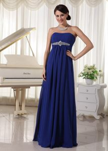 Noble Chiffon Royal Blue Mother Of The Bride Dresses Sweetheart