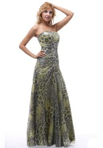 Best Strapless Leopard Print Long Prom Dress Colors to Choose
