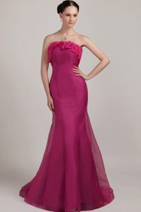 Wholesale Fuchsia Mermaid Strapless Dress for Prom online