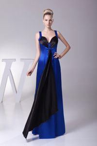 Special Straps Sweetheart Prom Gown Beading in Black and Blue