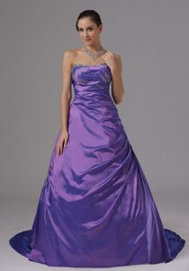 A-line Strapless Beaded Prom Dress for Girls Colors to Choose