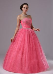 the Brand New Style Strapless Beaded Bodice Prom Gown Dress Tulle