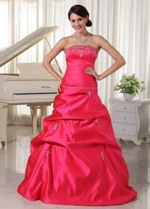 Luxurious Floor-length Prom Homecoming Dresses Beading Pick-ups