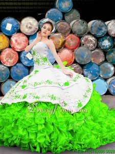 Lovely Floor Length Ball Gowns Sleeveless Spring Green Vestidos de Quinceanera Lace Up