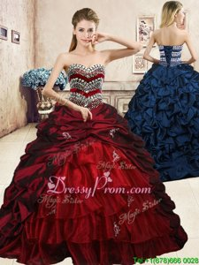 Fine Sleeveless Lace Up Floor Length Beading and Appliques and Ruffled Layers and Pick Ups Sweet 16 Dress